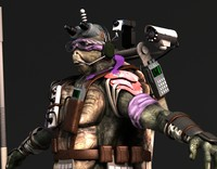 ninja turtle donatello 2014 3d model