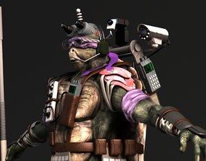 ninja turtle donatello 2014 3d model