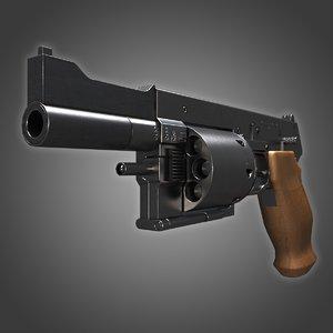 3d model mateba mtr-8 revolver