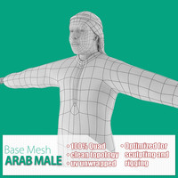 Arab Male Base Mesh