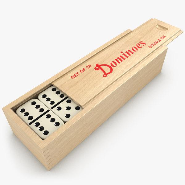 3d model realistic dominoes box set