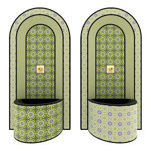 moroccan fountain 3 3d max