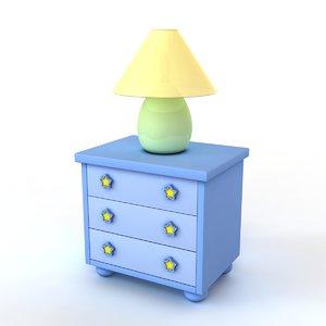 cartoon nightstand 3d max
