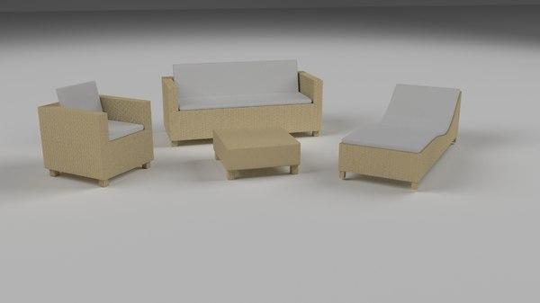 maya pack wicker furniture couch