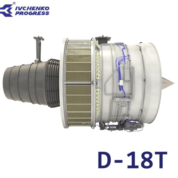 d-18t turbofan engine 3d obj