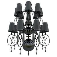 3d model of black chandelier