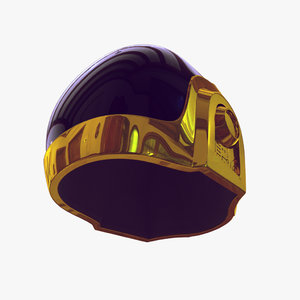 daft punk helmet 3d model