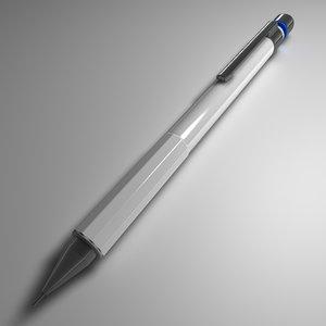 mechanical pencil 3d c4d