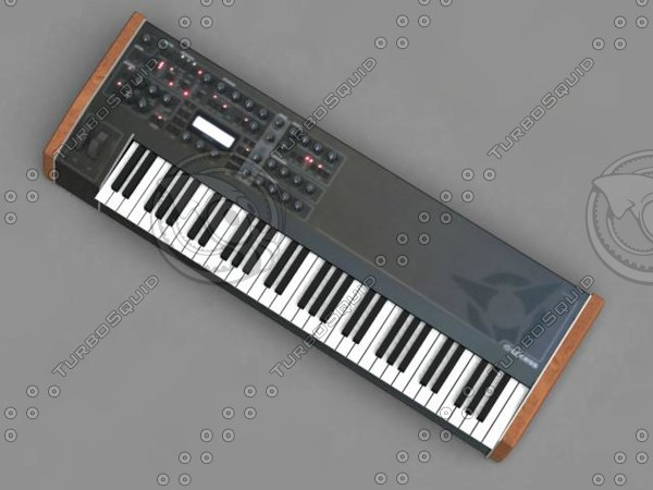 3d synthesizer model