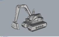 3d model excavator toy