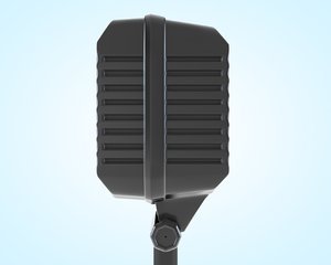 retro microphone stand 3d model