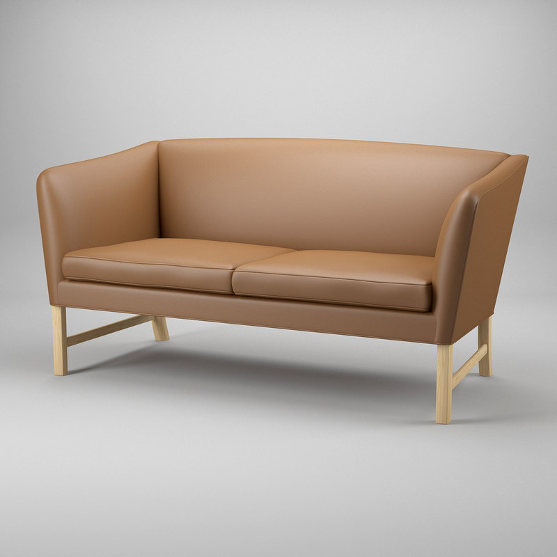 3d model of sofa ole wanscher