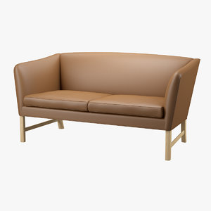 3d model of sofa ole wanscher