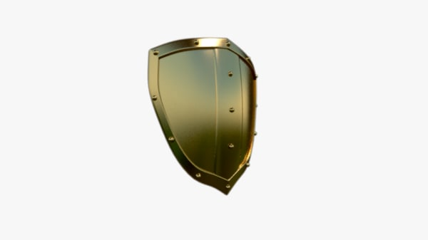 3d model bronze shield
