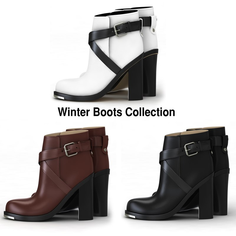 3d winter shoe