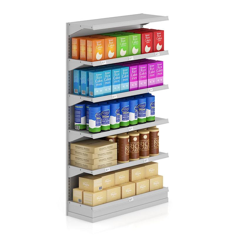 supermarket shelf wafer 3d max