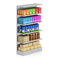 supermarket shelf wafer 3d max