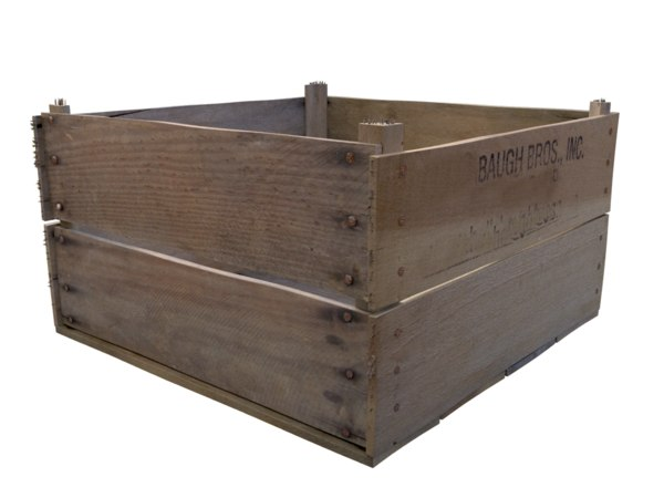 realistic wooden crate 3d max