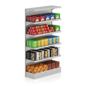 supermarket shelf cookies 3d max