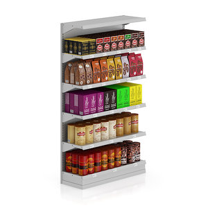 3d model shelf coffee market