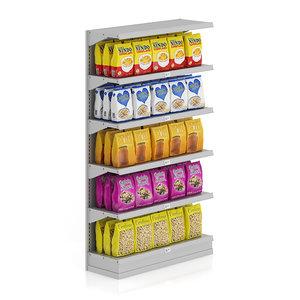 supermarket shelf cereal cornflakes 3d max