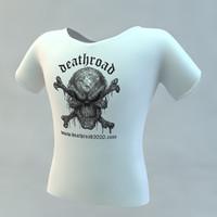 skull t shirt c4d