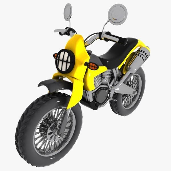 3d cartoon motocross car