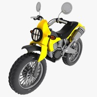 3d cartoon motocross car