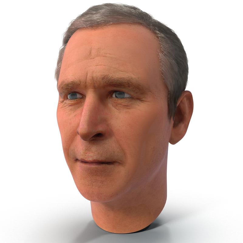 3d model george w bush head