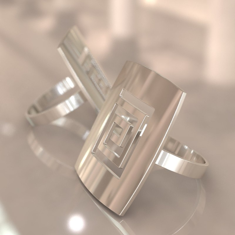 silver ring 3d obj