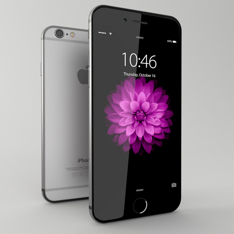 3d model iphone 6 space gray