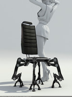 3d model chair steel