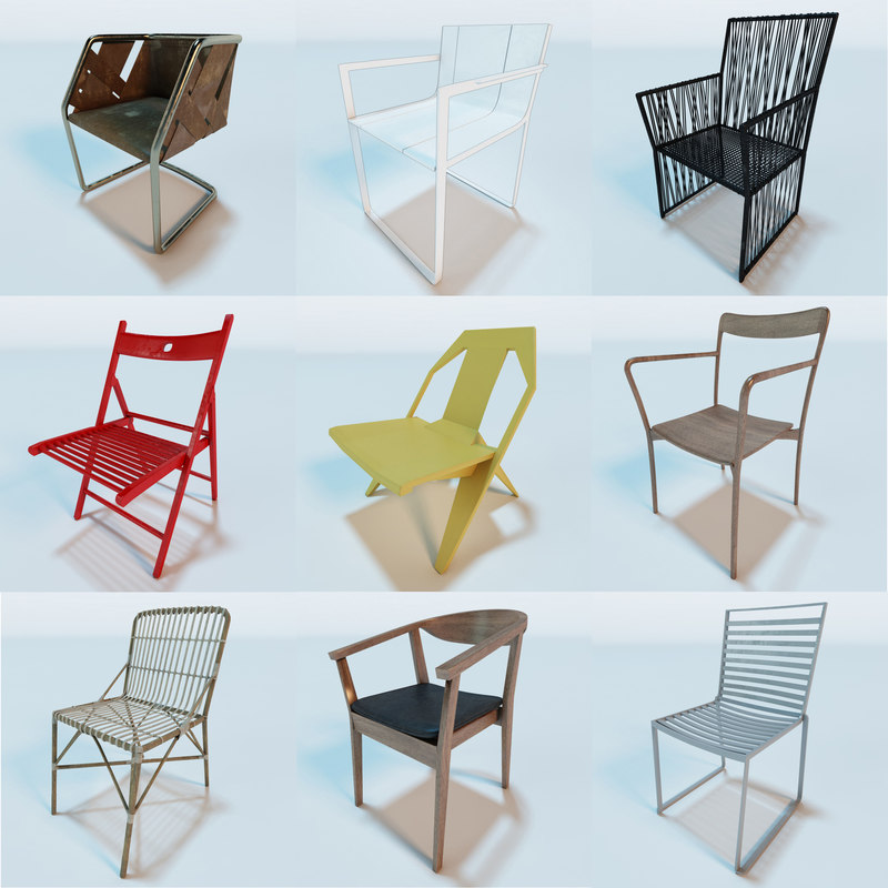 3d 3ds contemporary modern chairs vol 1