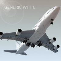 Boeing 747-300 Generic White