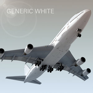 boeing 747-300 plane generic 3d model
