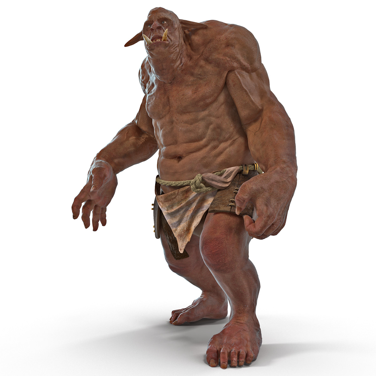 cave troll rigged 3d max
