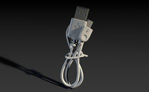 usb cable connector 3d 3ds