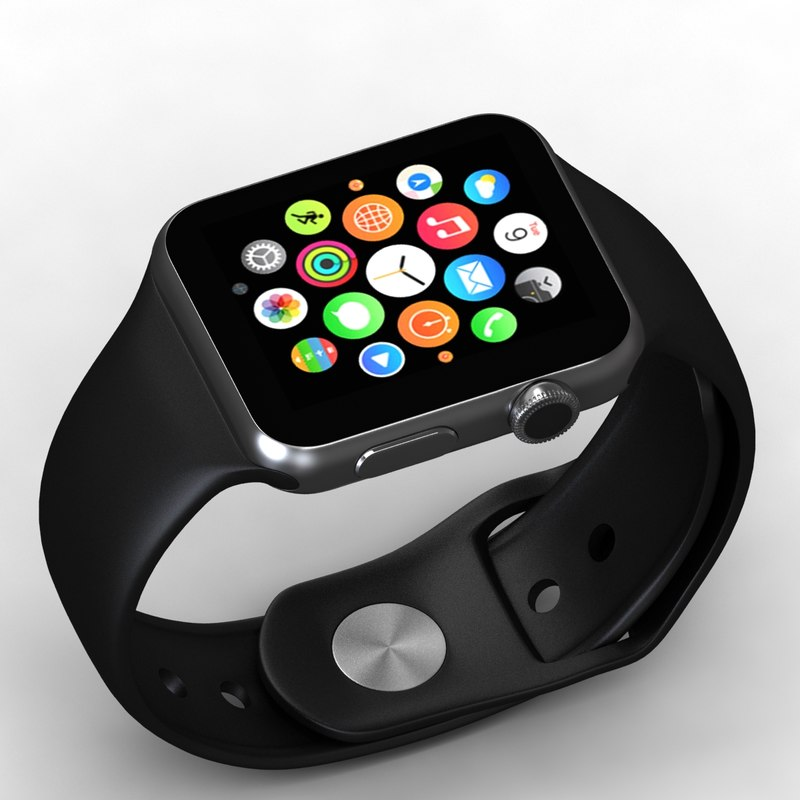 3d apple watch model