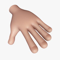 cartoon hand 3d obj