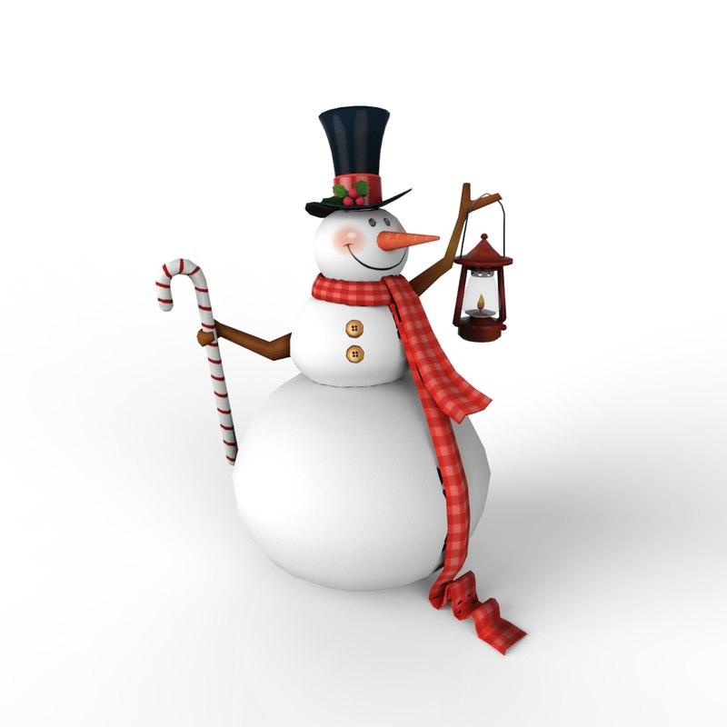 snow christmas man 3d max