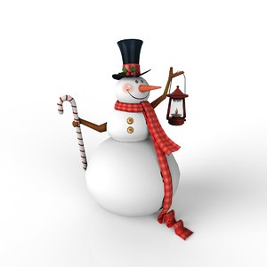 snow christmas man 3d max