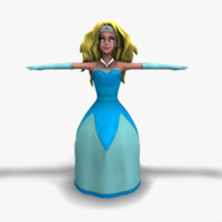 3d female girl woman model