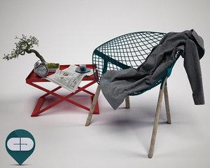 3d bonsai chair model