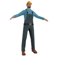 3d model worker man