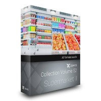 3d shop supermarket cgaxis volume model