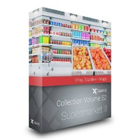 CGAXIS MODELS VOLUME 52 3D SUPERMARKET II VRAY