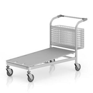 large shopping cart 3d max