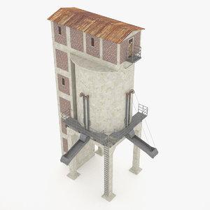 obj industrial concrete coal