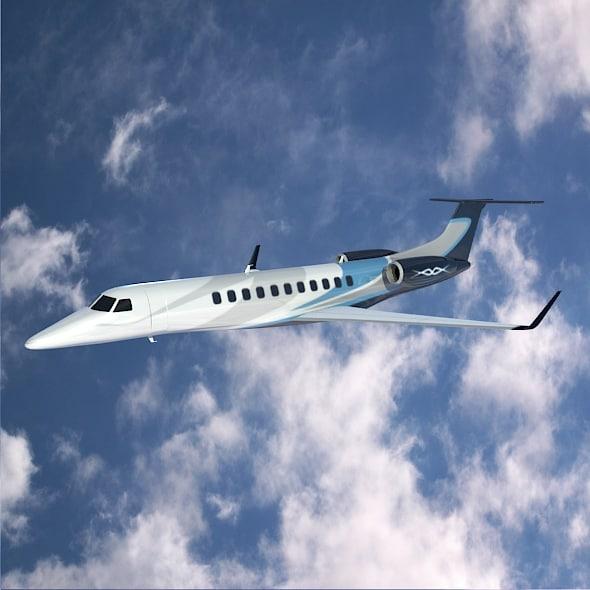 3d model jet corporate embraer