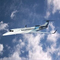 3d model jet corporate embraer